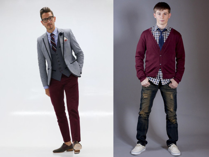 burgundy and navy trends